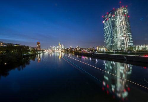 Das eindrucksvolle Gebäude der Europäischen Zentralbank (EZB) in Frankfurt. dpa