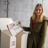Zeitungen in die Sammelbox und ab zum Recyceln