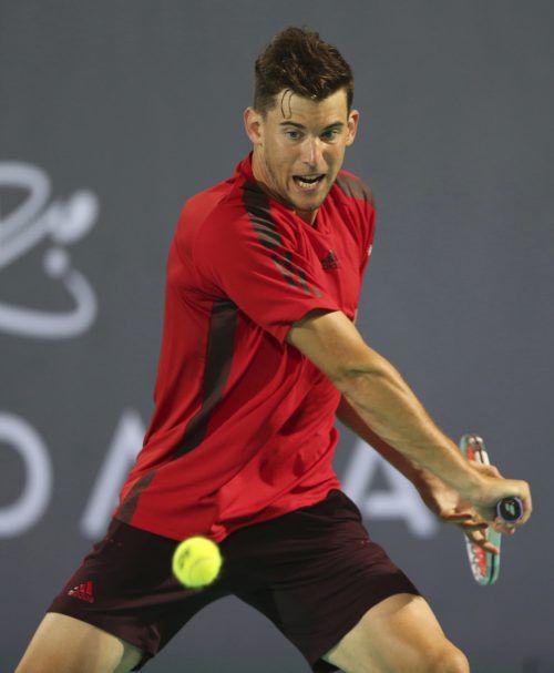 Dominic Thiem steht beim ATP-Turnier in Doha im Achtelfinale.ap