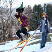 Skirennen für eine in Not geratene Familie