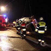 Reh verursacht Autoüberschlag auf der Rheintalautobahn