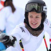 Erstmals nach Sturzwieder auf Skiern