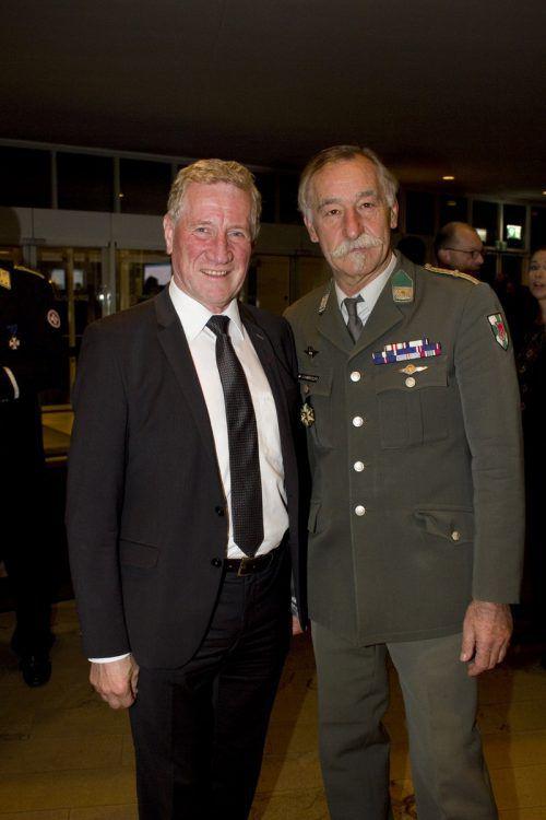 Gastgeber Sicherheitslandesrat Erich Schwärzler (l.) und Siegfried Schwärzler.