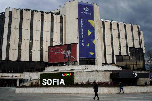 Im Kulturpalast in Sofia werden die EU-Ratssitzungen stattfinden. afp