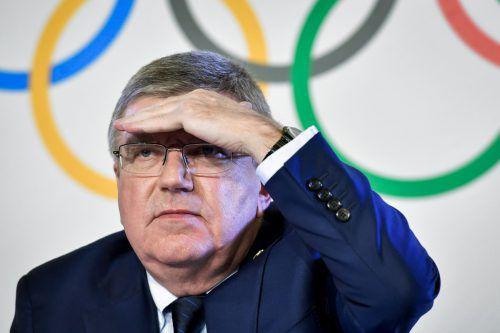 IOC-Präsident Thomas Bach wehrt sich gegen Vorverurteilungen.gepa