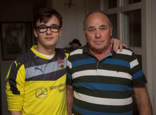 Kämpften gegen die FIFA: Leandro Jäger und sein Opa Heinz. VN/Paulitsch