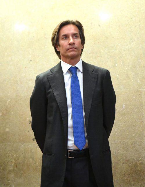 Karl-Heinz Grasser folgte am 10. Jänner der Verhandlung rund um die Causa Buwog.AP