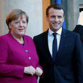 Kanzlerin Merkel und Präsident Macron wollen EU stärken