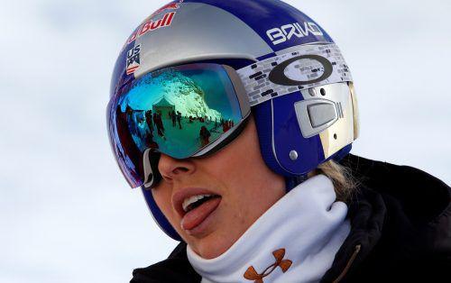 """Lindsey Vonn: """"Ich stehe hier nicht am Start, um Zweitezu werden."""" reuters"""