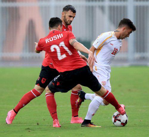 Nikola Gjorgjev im Bild im WM-Qualifikationsspiel gegen Albanien.apf