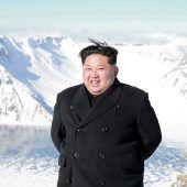 Atomwaffen-Knopf in der Nähe