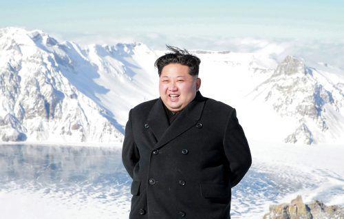 Nordkoreas Staatschef Kim Jong-unbrüstete sich in seiner Neujahrsrede mit Fortschritten im Atomwaffenprogramm. afp