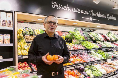 Ob am Berg oder im Tal: Adeg-Kaufmann Florian Müller überzeugt Kunden stets mit Frische und Regionalität.Adeg