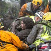 Schlammlawinen rissen 15 Menschen in den Tod