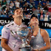 Federer und Bencic Mixed-Weltmeister