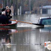 Evakuierungen nach Hochwasser