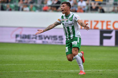 Sandor Gotal kickte schon für St. Gallen. Ab sofort geht er in Weißrussland für Dinamo Brest auf Torjagd.gepa