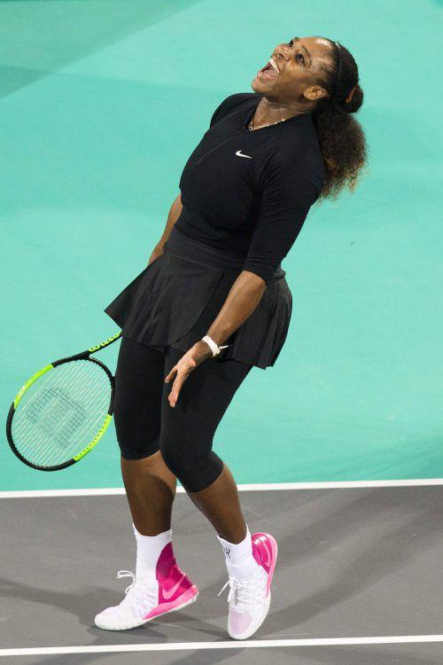 Serena Williams hatte trotz der Niederlage viel Grund zur Freude.AFP