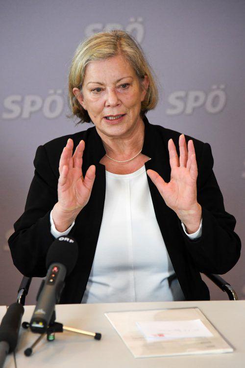 SP-Parteichefin Gabi Sprickler-Falschlunger ist auf der Suche nach parteiinternem Verräter. VN/Lerch