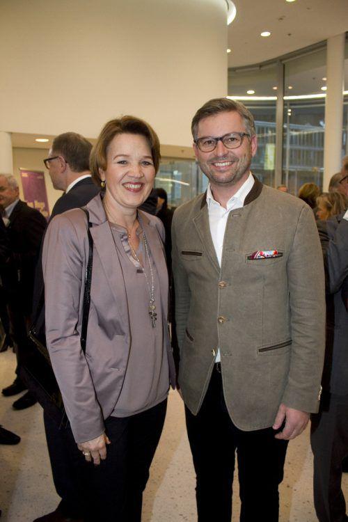 Stadtchefin mit Bundesrat: Andrea Kaufmann und Magnus Brunner.