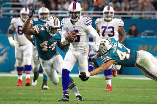 Tyrod Taylor und die Buffalo Bills setzten sich bei den Miami Dolphins durch. AFP