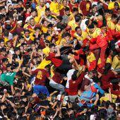 Millionen Pilger huldigen Jesus-Figur