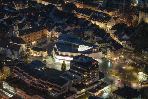 Die Feldkircher Neos kritisieren das Defizit des Montforthauses, insbesondere der Dachgastronomie des Prestige-Objektes.VN/Stiplovsek
