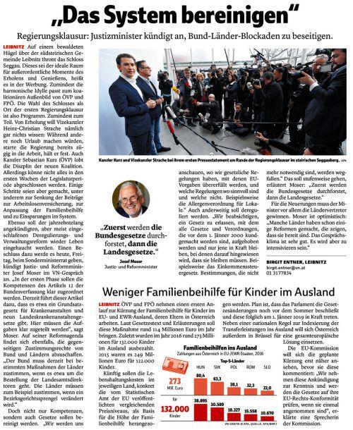 VN-Bericht vom 5. Jänner 2018.