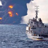 Brennender Tanker gesunken