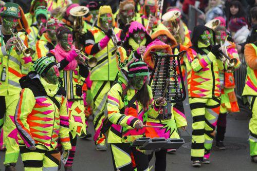 Zünfte, Hästräger, Maskengruppen, Guggen, Hexen, Schalmeien, Garden, Fanfaren und Geister werden Fußach wieder in eine Faschingshochburg verwandeln. vn/stiplovsek
