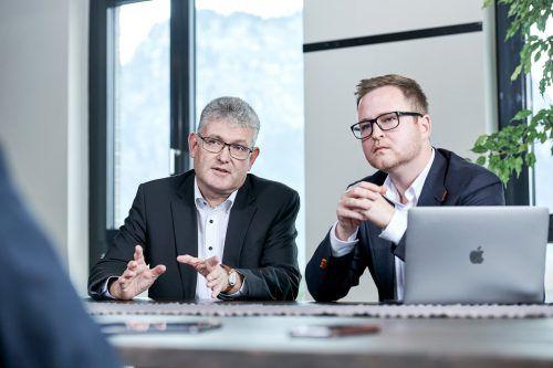 Die Vorarlberger Udo Oksakowski (l.) und Max J. Heinzle halten weiterhin rund 30 Prozent der Aktien an 21.finance. M.Hagen
