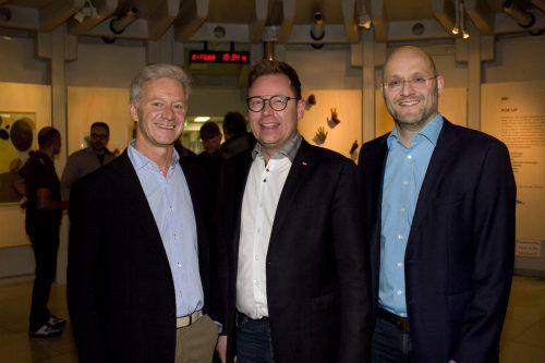 Andrew Nussbaumer, Dir. Markus Klement und Filmemacher Gernot Hämmerle.