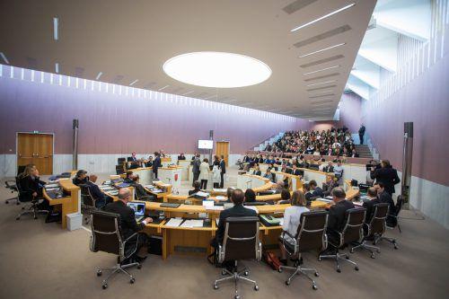 Bei der Landtagssitzung am Mittwoch wurde fleißig debattiert. VN-steurer