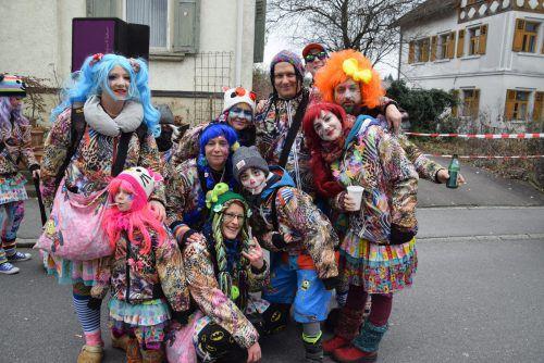 Beim Jubiläumsumzug in Götzis hatten Groß und Klein ihre helle Freude.