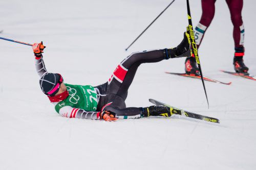 Beim zweiten Wechsel stürzte Dominik Baldauf auch noch.Gepa
