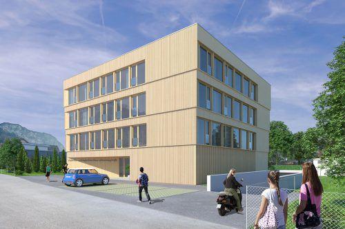 Das neue Studenten- und Apartmenthaus in der Schlossbergstraße 17 ist für 40 Bewohner konzipiert. Stadt Hohenems