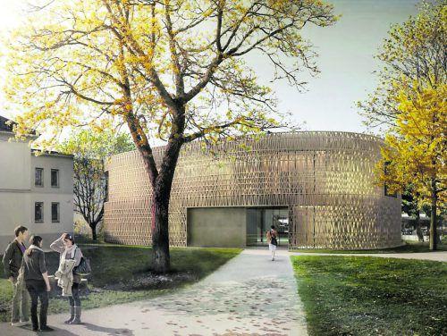 Den Bau der neuen Stadtbücherei finanziert die Dornbirner Sparkasse.