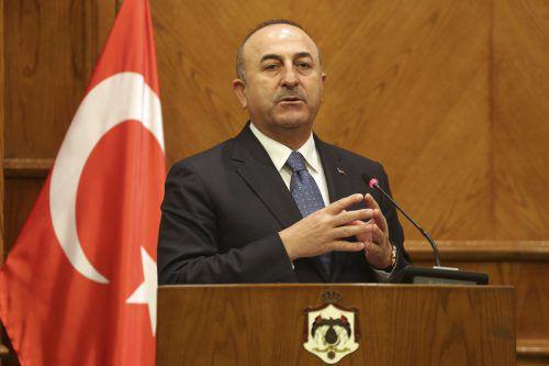 Der türkische Außenminister richtete mahnende Worte an Damaskus. AP