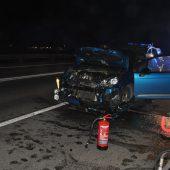 Drei Verletzte bei Auffahrunfall auf Autobahn