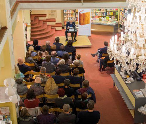 Der Vorarlberger Autor Christian Mähr las in der Buchhandlung Brunner au seinem neuen Buch. VN/Paulitsch