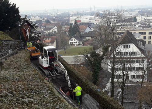 Die Bauarbeiten auf dem Weg zum Liebfrauenberg laufen planmäßig und sollen im März abgeschlossen werden. Marktgemeinde RAnkweil