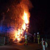 Heckenbrand in Lustenau