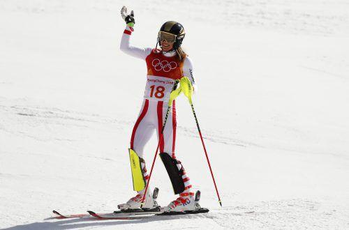 Die Göfnerin Katharina Liensberger wird am Samstag noch einmal alles geben.REUTERS