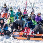 Junge Skifahrer hatten Spaß am Sonnenkopf