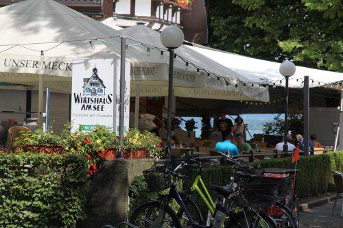 Das Wirtshaus am See bewirtet dieser Tage ungewöhnlich viele Gäste aus Tirol.VN