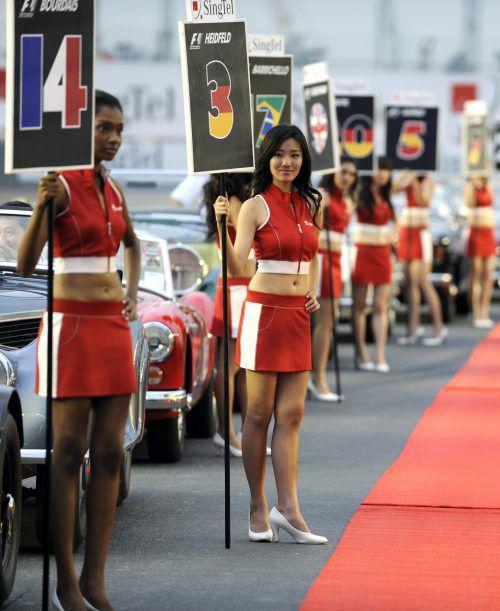 Die Nummern-Girls wird es 2018 in der Formel 1 nicht mehr geben.AFP