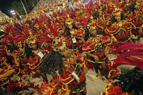 Die Sambaschule Beija Flor holte ihren 14. Titel. AFP