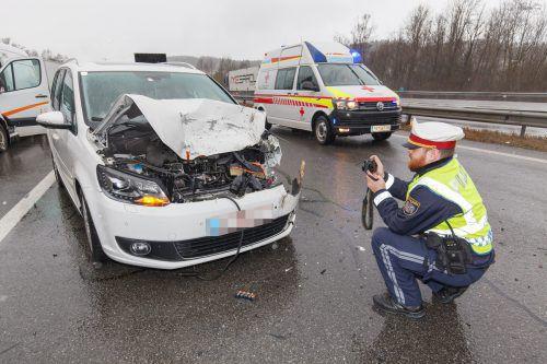 Dieses Auto prallte gegen den Pick-up des Unfallverursachers. hofmeister