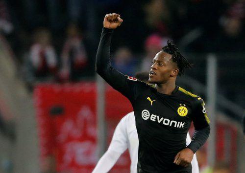 Ein Tag im Dortmund-Dress und schon zwei Tore erzielt: Michi Batshuayi.reuters