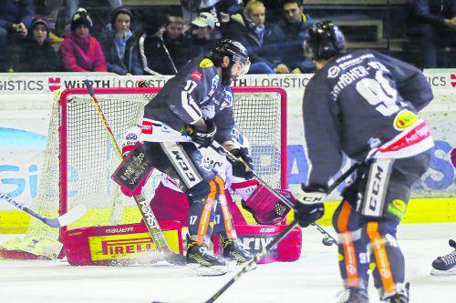 Ein Tor, eine Vorlage. Scott Timmins gehörte beim 4:1 gegen den HCB Südtirol zu den Aktivposten im Dornbirner Team. steurer